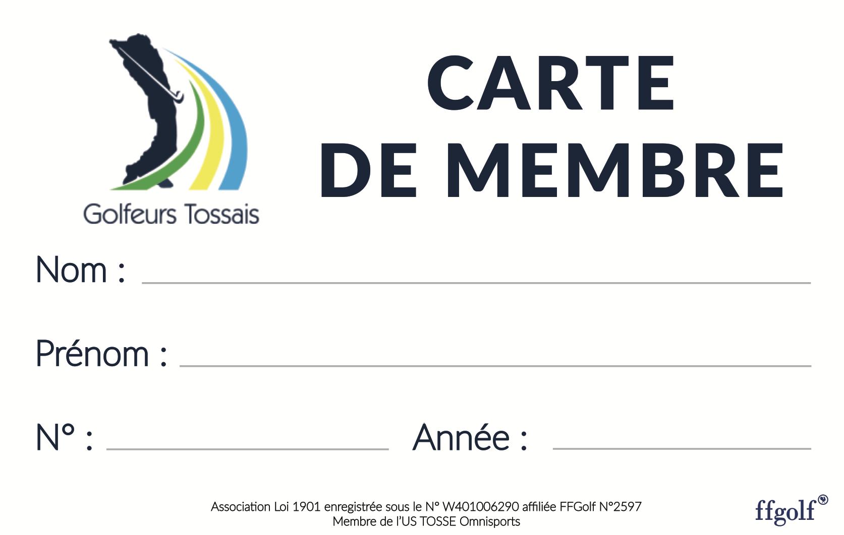 carte de membre association loi 1901 Actualités   CARTE DE MEMBRE
